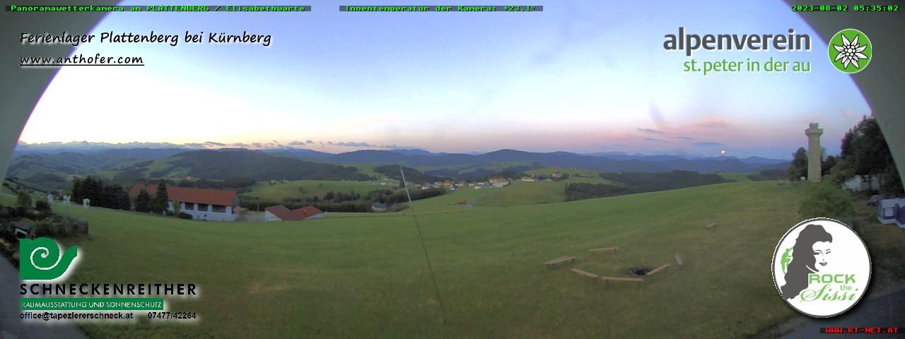 ÖAV Sektion St.Peter/Au - Wetterkamera am Plattenberg (Elisabethwarte)